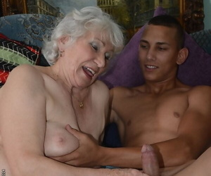 Furry pussy of tasty granny Norma gets nailed hardcore..