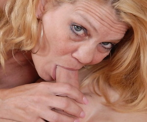 Close ups of over 50 Mummy Lori providing her mans cock a..