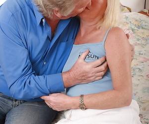 Amateur granny Angeline amazing hardcore lovemaking in..