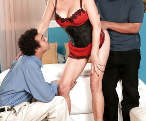 Busty grandmother Rita Daniels blowing 1 fat hard-on while..