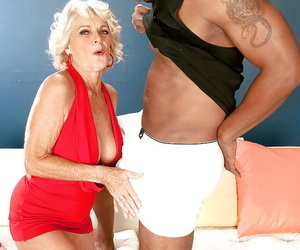 Busty blonde granny Georgette Parks sucking and fucking a..
