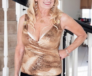 Naughty ash-blonde granny Layla Rose tempts her grandsons..