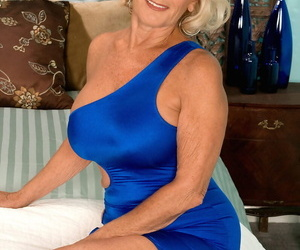 Buxomy blonde cougar Georgette Parks gets nailed and..