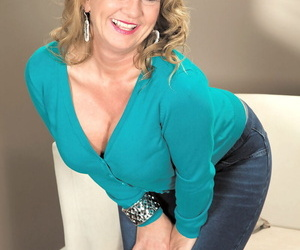 Light-haired mature with fake knockers Cali Houston takes..