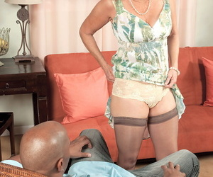 Horny old chick Connie McCoy takes a large black shaft up..