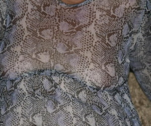 Fat nan Valgasmic Exposed casts off her dress to go nude..