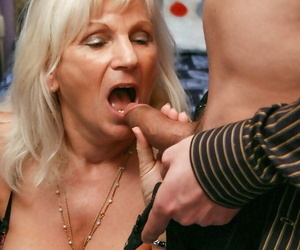 Horny granny Anna A taking anal hook-up and Double..