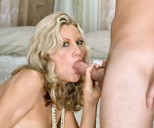 Nude granny Barushka blows a dude before riding his dick..