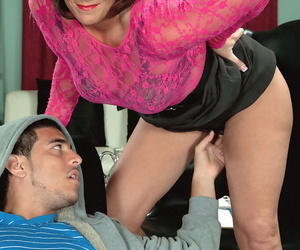 Warm nan Yasmine Beale entices a much younger stud in a..