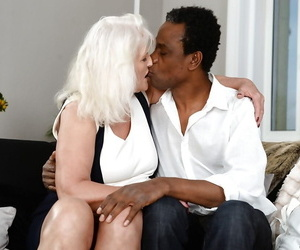 Huge granny Judi sparkle big ebony cock during hardcore..