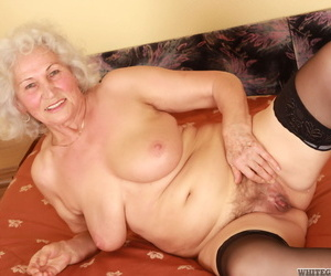 Horn granny Dillon loves to get gooey spunk in pussy from..