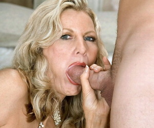 Busty granny Barushka heads pussy-to-mouth with a much..