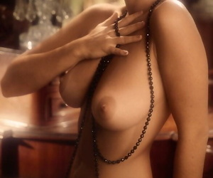 Timeless woman with thick knockers Miki Garcia posing bare..