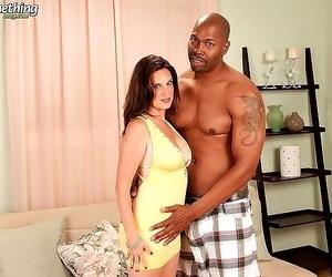 Chesty mature lady likes huge ebony cocks - part 3825