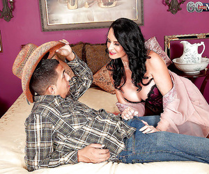 Brunette granny rita daniels cannot stop big-chested and..