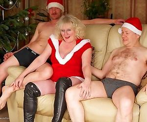 Drunken milf claire knight group-fucked on christmas party..