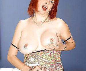 Chesty redhead mom oral angie toying with hooters - part 626