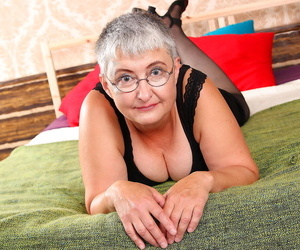 Naughty granny getting herself all riled up - part 3179