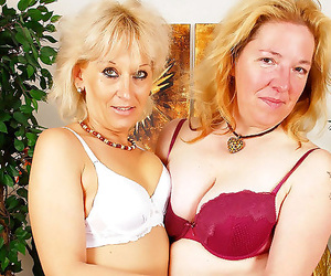 Two dirty granny whores in some hot lesbo activity - part..