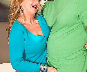 Mature woman cali houston screws her junior seized lover -..