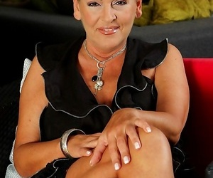 Chesty wife andrea spreads her older pussy enrapture -..