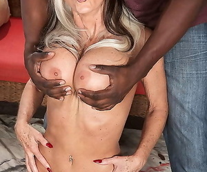 Naughty woman toying with huge dark-hued cock - part 1646