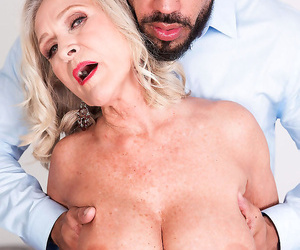 Granny with fat boobs katia blowing a powerful dude with a..