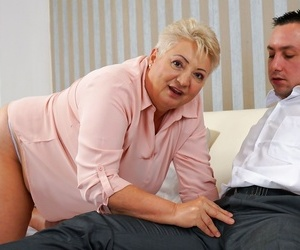 Hot and delicious granny astrid wants fresh shaft deep..