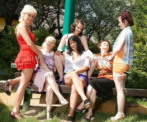 6 old and youthful lezzies make out in the sun - part 394