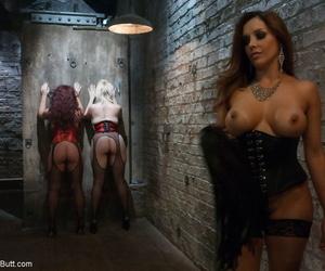 Mistress Francesca Le enjoys anal joy with Alice Breaks..