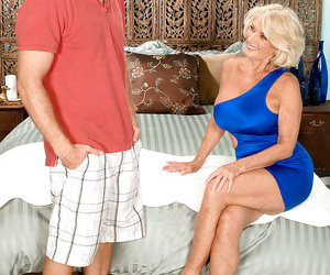 Fine granny goes xxx with a young dude and shares her..