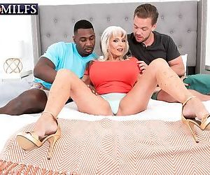 Scorching older chick Sally DAngelo pounds a black and..