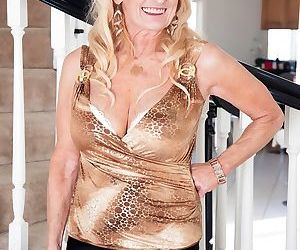 Naughty blonde granny Layla Rose entices her grandsons..
