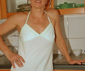 Mature redhead Jocelyne gets her cunt fisted & rails..