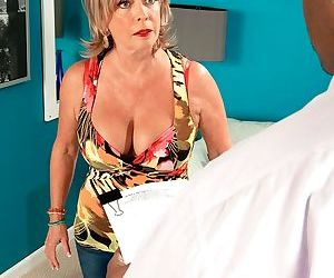 Granny Lexi McCain gets her mature vagina eaten out and..