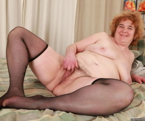 Obese ugly redhead flops on bed for shaft sucking & fat..