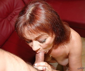 Lusty granny gets her sadism vagina pounded by plaything..