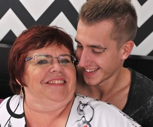 Obese grandmother Uma Womba nails her boy toy with her..