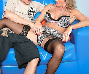 Horny cougar Jade entices the next door neighbours son..