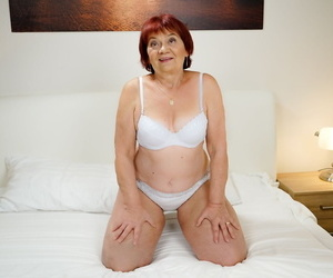Fat older redhead and her toy endowed get busy with gonzo..