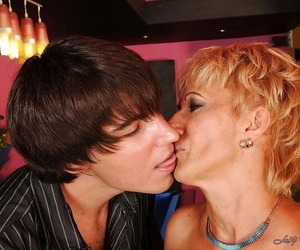 Filthy blonde mom has some xxx joy with a younger lad