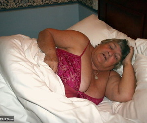 Obese granny Grandmalibby eliminates undergarments and..