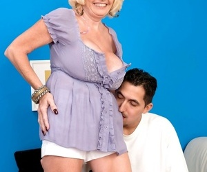 Big frosted granny Missy Thompson gets her cock hungry..