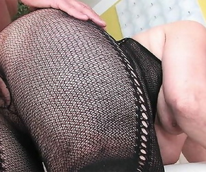 68 Years old Grandma very first Time Thick Cock Fucked
