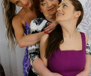 3 old and young lesbos making out in bed - part 2240