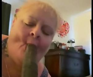 Trailer granny gumjob suck 9 inch Big black cock facial..