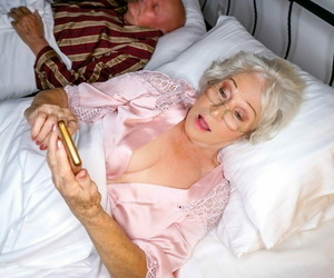 Wild granny norma is in her bed when she gets a call -..