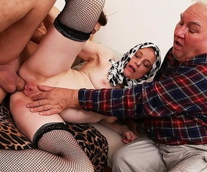 Mother very first Time Cuckold Ballsack Pounded