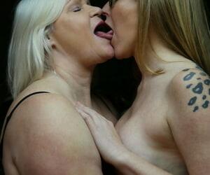 Granny Lacey Starr & nerdy lesbian Mackenzie Page..