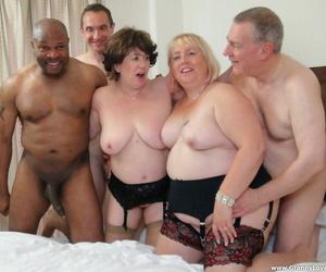 Kinky round grannies Auntie Trisha and Lexie Cummings..